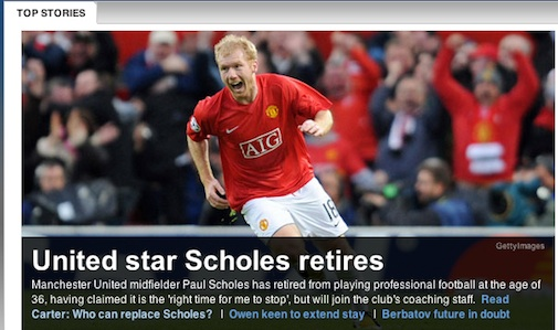Scholes Retires